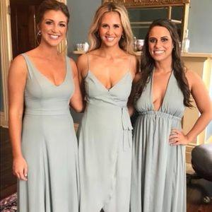Show me your mumu silver sage Mariah wrap dress